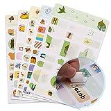 AIEX Etiketten Selbstklebend Süß Aufkleber Namen Namensetiketten Namensaufkleber für Kinder Kindergarten, Mehrere Farben & Design (Cartoon, Tiere,230 Stück)