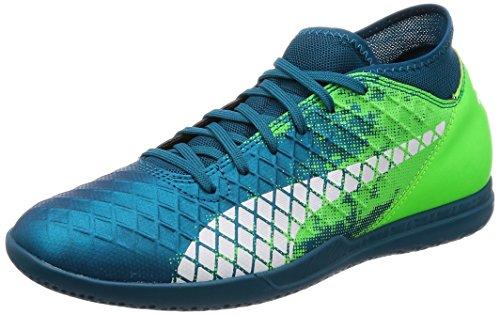 Puma Herren Future 18.4 IT Fußballschuhe, Blau (Deep Lagoon White-Green Gecko), 42 EU