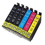 Oyat® 6x (3schwarz, 1Cyan, 1Magenta, 1Gelb)mit neuen Aktualisiert Chip Epson 29XL Tintenpatronen kompatibel mit Epson Expression Home xp-332xp-335xp-235xp-432xp-435xp-245xp-247xp-342xp-345xp-442xp-445xp-330xp-430