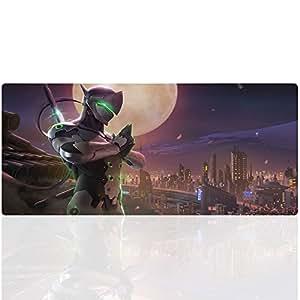 Beyme Overwatch Mauspad, 900 x 400 XXL Gaming Mauspad Große Mouse Mat Gel Anti Rutsch Matte für Computer, PC und Laptop