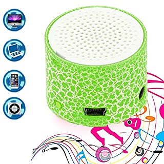 Befied SmartLife - Mini Super Portable Bluetooth Speaker Music Box   LED Speakers Wireless bluetooth speaker with TF Port  Support APP (Green)