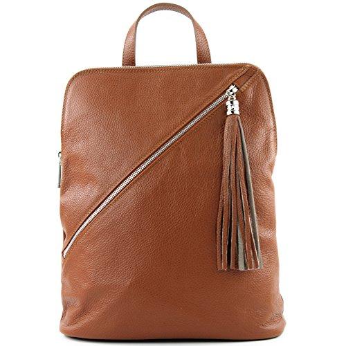 Zaino In Pelle 3in1 Citybag T141 T161 Cognac