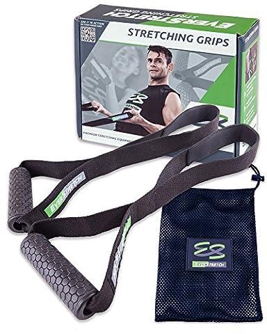 étirement Grips par Everstretch: Premium étirement d'équipement pour les athlètes. stretch Bretelles pour atteindre Impossible positions sans Gêne. Idéal pour la thérapie physique et exercices de