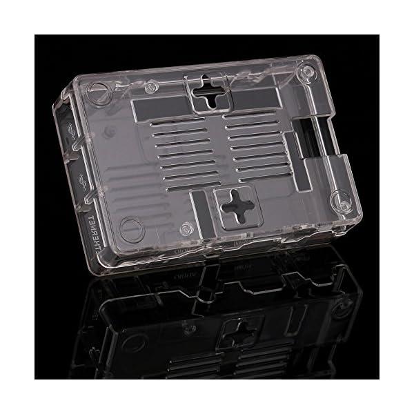 51NNpwemn7L. SS600  - Aukru NUEVO 3-EN-1 Kit de Raspberry Pi 2 Modelo B/B + transparente Caja + 5v 2000mA alimentación + 3 conjunto del disipador de calor