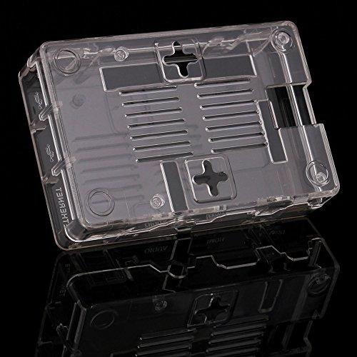 51NNpwemn7L - Aukru NUEVO 3-EN-1 Kit de Raspberry Pi 2 Modelo B / B + transparente Caja + 5v 2000mA alimentación + 3 conjunto del disipador de calor