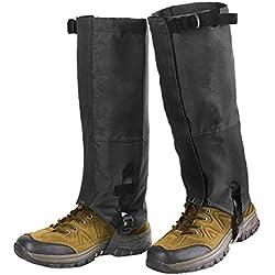 Unigear Polainas Impermeable 1 Par Prueba De Viento Nieve Lluvia Protección Para Las Piernas Para Montaña Senderismo Caza Esquí Escalada Guardia Anticorte Transpirable (L, Negro)