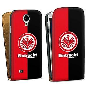 Handy Design Tasche Hülle Case Eintracht Frankfurt schwarz rot Galaxy S4 - DesignTasche Downflip black - Samsung