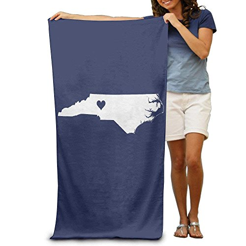 orth Carolina State Map Quick-Drying Pool Beach Towel Travel Bath Towel for Adults ()