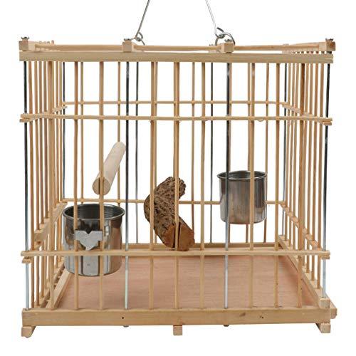 Hjd-Pet Nest Exquisite kleine Vogelkäfig Papageienkäfig Taubenkäfig Platz Bambus glatt und Stichfrei stark und Nicht verformt