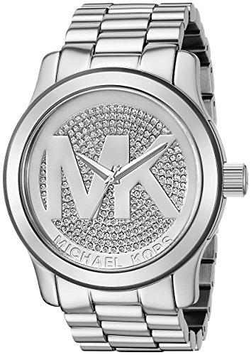 Michael Kors Damen 45mm Silber Stahl Armband & Gehäuse zeigt MK5544 (Watches Women Michaels Kors)