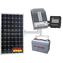 280W 12V/24V solare ricarica kit per camper, roulotte, camper, barca, yacht, domestici off-grid o backup power System