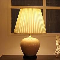 Nuova camera da letto lampada ad alto grado di tavolo in ceramica comodino studio americano cinese salotto creativo sfera decorativa borneolo Glaze