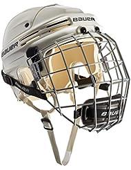 Bauer Eishockeyhelm 4500 Combo mit Gitter - Casco de hockey sobre hielo, color blanco, talla l