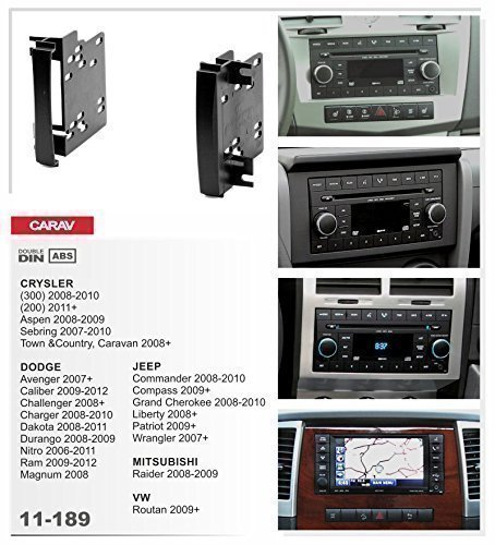 CARAV 11-189 doppel DIN Radioblende für CHRYSLER- DODGE- JEEP- MITSUBISHI- VW