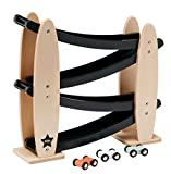 Kids Concept- Kugelbahn mit Autos- Holzspielzeug Kullerbahn Autorennbahn, 31x8x29cm,  Schwarz