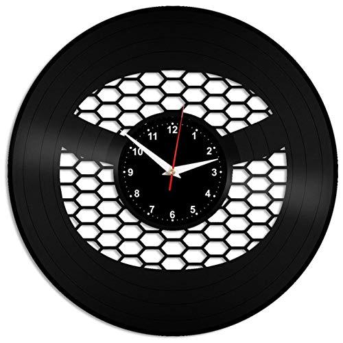 EVEVO Mazda Wanduhr Vinyl Schallplatte Retro-Uhr Handgefertigt Vintage-Geschenk Style Raum Home Dekorationen Tolles Geschenk Wanduhr Mazda