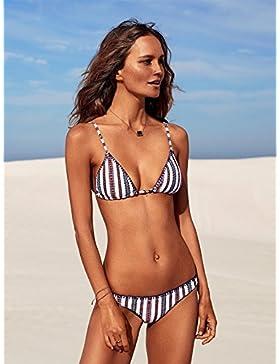 Presidente split bañador _ Presidente split correas en traje de baño moderno y confortable playa bikini elegante...