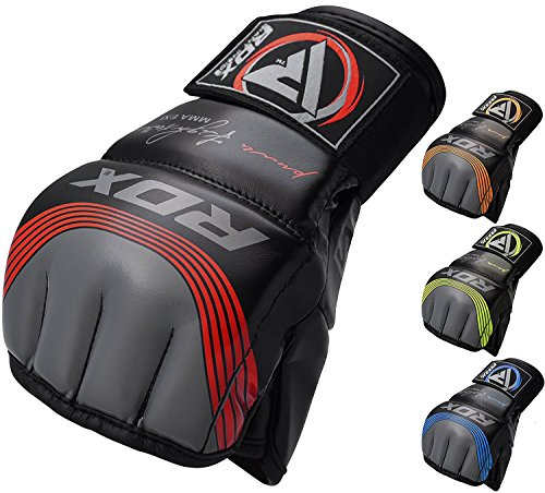 RDX MMA Handschuhe Profi Maya Hide Leder UFC Kampfsport Sparring Freefight Sandsack Trainingshandschuhe Grappling Gloves