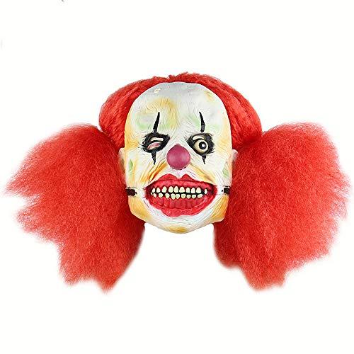 (WUYEA Halloween - Horror - Masken aus Latex voll dämon Clown mit Roter perücke für Halloween - kostümfest Skorpion)