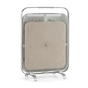 Klarstein HeatPal Marble Blackline radiador infrarrojo – Radiador portátil, Radiador Vertical, 1300 W, para Salas de 30 m², Función para conservar el Calor, Placa de mármol, Aluminio, Plateado