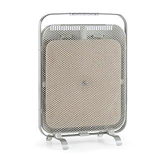 Klarstein HeatPal Marble Blackline radiador infrarrojo – Radiador portátil, Radiador Vertical, 1300 W, para Salas de 30 m², Función para conservar el Calor, Placa de mármol, Aluminio, Cobre