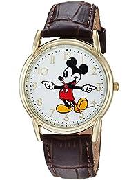 Disney Men's 'Mickey Mouse' Quartz Metal Casual Watch Color:Brown (Model: WDS000406)