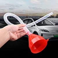 Embudo 2 en 1 de plástico para depósito de Agua, Combustible, Gasolina, diésel, para Coche, Moto, camión