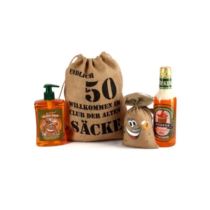 Lustapotheke® Geburtstagsgeschenk Set Bier Spa zum 50. Geburtstag (4-teilig)