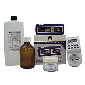 Starter Set Ionic-Pulser® Standard S Set mit dig. Zeitschaltuhr, 1l dest. Wasser, 50ml Creme mit koll. Silber