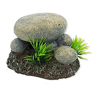 All Pond Solutions Rock Aquarium Fish Tank Ornament – Optional Bubble Feature 28853 51NNxnUVNbL