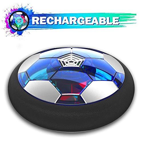 Leynatic Air Football, Wiederaufladbares Kinderspielzeug Air Power Fussball Spielzeug mit LED-Licht und Schaumstoßstange, Perfektes Fußballspielzeug für Spiele im Innen ab 3 Jahren