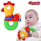 Baby Kleinkind Stoffspielzeug Ring Rasseln Beißring Süße Tiere Glocken Trainning ab 6 Monate Geschenk,Küken
