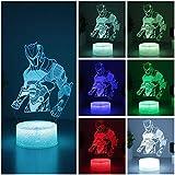 WMWZ Omega USB Fortnite 3D Luces LED AtmóSfera Decorativa para El Hogar BateríAs Operadas LáMpara De Mesa De 7 Colores para NiñOs (Base Negra Omega)