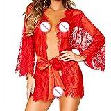 Macxy - M/L / XL Plus Size Sexy Wäsche-Weiß-Sexy Krankenschwester-Kostüme Porno Lingerie Sexy Rollenspiele Frauen-Geschlechts-Unterwäsche [7XL Red]