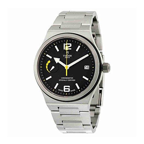 Tudor del Norte Bandera automático negro Dial acero inoxidable acero Mens reloj 91210N-bkss