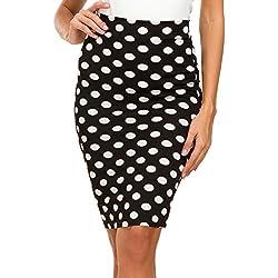 Mujer Moda Cintura Alta Falda de Lápiz (S, 2)