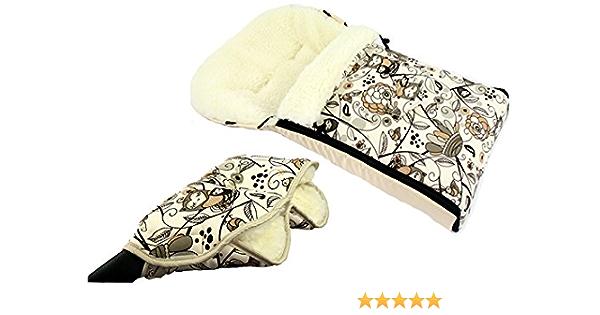 Bambiniwelt Kombi Angebot Muff Handwärmer Universaler Winterfußsack 90cm Motiv 3 Auch Geeignet Für Babyschale Kinderwagen Buggy Aus Wolle Im Eulendesign Baby