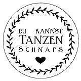 48 x Aufkleber 30 mm Hochzeit Schnaps Kranz Gastgeschenk Etikett 173309