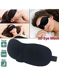 MARK AMPLE Blind Sleeping Eye Mask Slip Night Sleep Eye black 3D Cotton Cover Super Soft & Smooth Travel Masks for Men Women Girls Boys Kids
