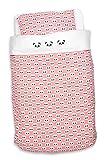 Panda Bettwäsche Bettdeckenbezug 120x150 cm und Kopfkissenbezug 40x60 cm, koralle
