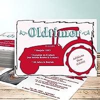 Einladungskarte 80 Geburtstag Vorlage, Bulldog Foto 15 Karten, Horizontal  Einfach 148x105 Inkl. Weiße