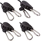 """VIPARSPECTRA 2 Pair of 1/8"""" Heavy Duty Rope Ratchet Adjustable Hanger For Hydroponic Grow Light Fan Filter Reflectors"""