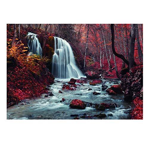 non-brand Homyl Aquarium Aufkleber Hintergrund Rückwandfolie Wasserfall Fotoposter - 122 x 46 cm