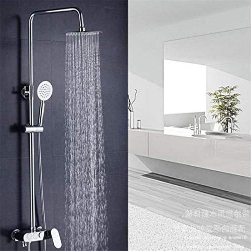 FuweiEncore Brausegarnitur In-Wall Unterputz Vollkupfer DREI-Gang-Brausebatterie Top Brause Regenbrause, Spray, Massage, Blase, unter Druck stehendes Wassersparen (Farbe : -, Größe : -)