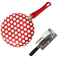 Best Red & White Dots 10 Unique Fry Frying Pan Skillet Gifts Set Fun Inexpensive Best Back to School Dorm Supplies for Women Girls Her Ideal Birthday Present Best Back to School College Supplies by JCCentral