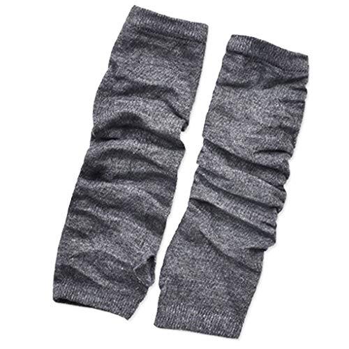 1 Paar Winter-Lange Arm Handschuhe Armwärmers Sleeve Handschuhe Frauen-Mädchen-Streifen/Fest Loch Halb Fäustlinge Regard
