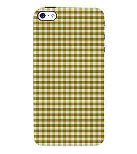 Checks Pattern 3D Hard Polycarbonate Designer Back Case Cover for Apple iPhone 4