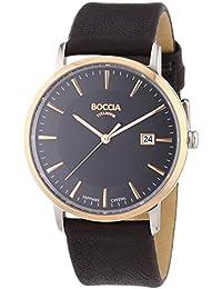 Boccia Herren-Armbanduhr XL Analog Quarz Leder 3557-05