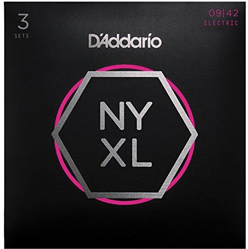 D'Addario NYXL0942-3P Nickel Wound E-Gitarre Saiten (Super Light, 9-42, 3 Sets)