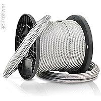 90m cable de acero 2mm 1x19 Cuerda de acero bosque cuerda del cabrestante cuerda alambre de acero galvanizada